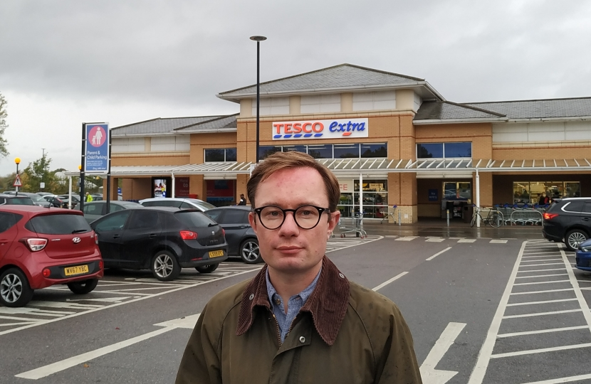 Nicholas Rogers at the Tesco site